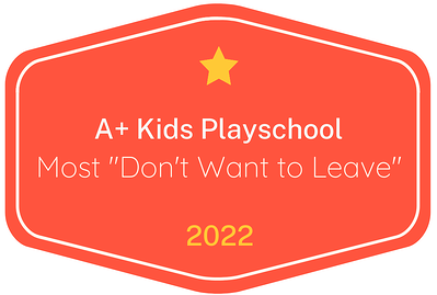 2022 Most 'Don't Want to Leave' badge for A+ Kids Playschool in Austin